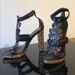 TOM FORD Crocodile T-bar sandals